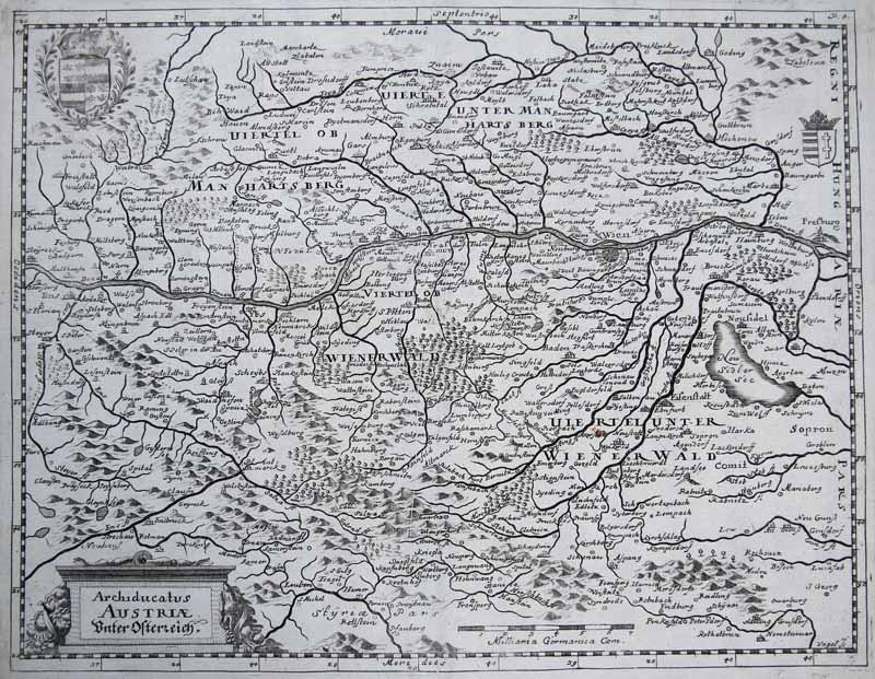 Karte Wien Niederosterreich.Antiquariat Clemens Paulusch Gmbh Landkarten Niederosterreich