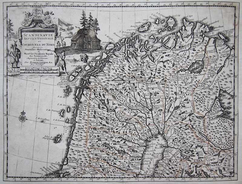 Landkarten Skandinavien