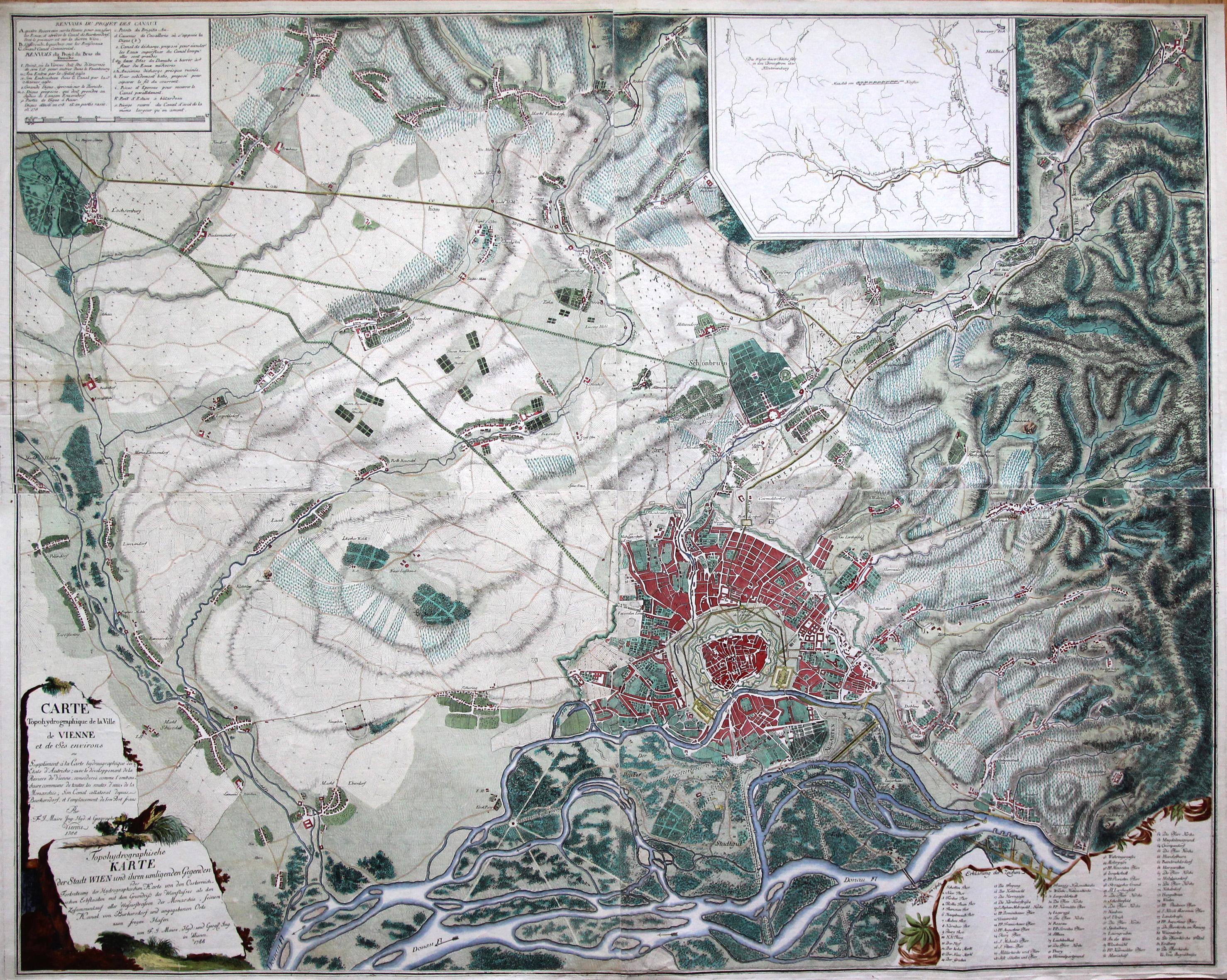 Karte Wien Niederosterreich.Niederosterreich