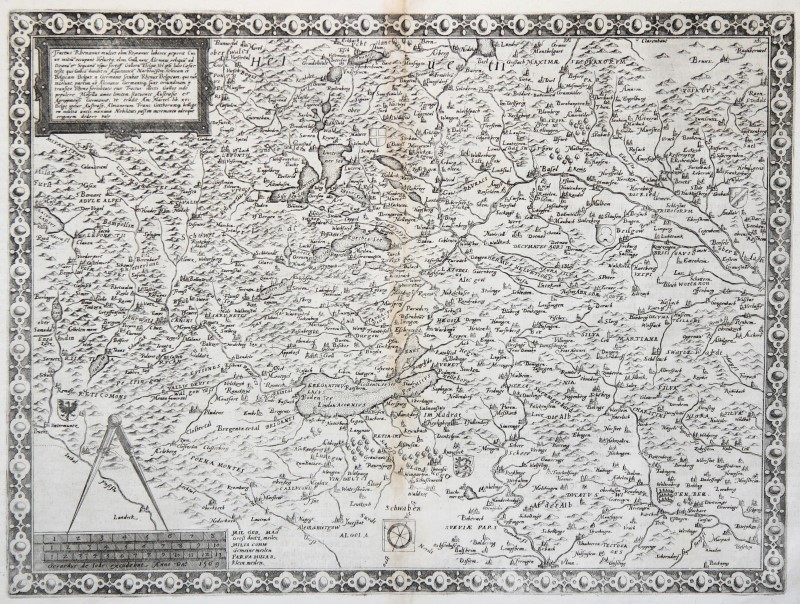 Germania Del Sud Cartina.Germania Del Sud Svizzera Originale Incisione Cartina Geografica De Jode 1593 Ebay