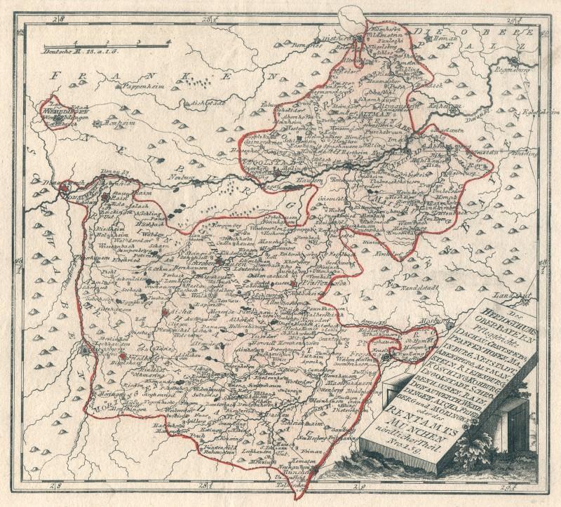 Oberbayern Original Kupferstich Landkarte Reilly 1791 Ebay
