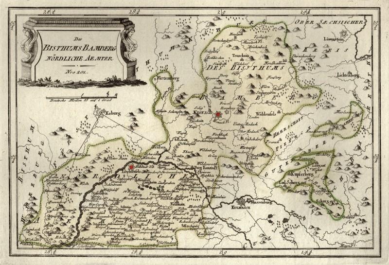 Karte Bamberg Landkarte.Details Zu Lichtenfels Kronach Umgebung Original Kupferstich Landkarte Reilly 1791