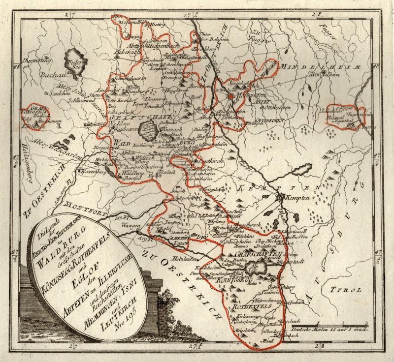 Memmingen Allgau Original Kupferstich Landkarte Reilly 1791 Ebay