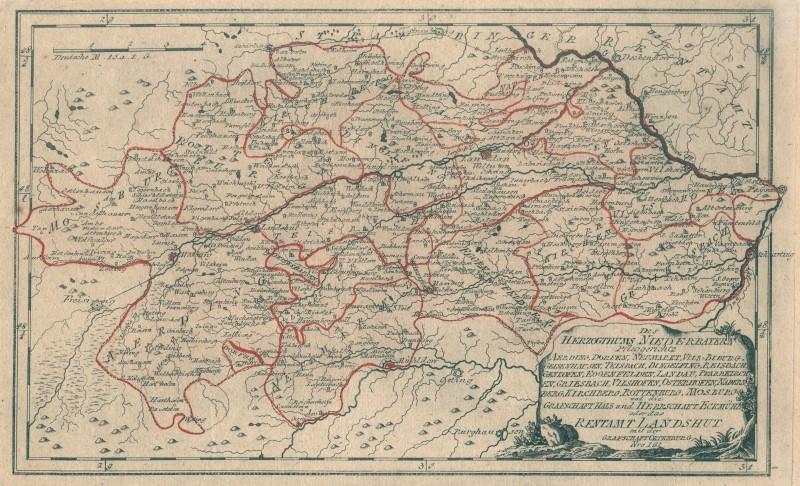 Niederbayern Original Kupferstich Landkarte Reilly 1791 Ebay