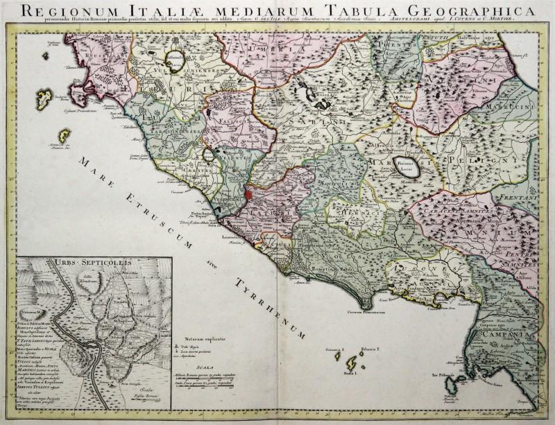 Cartina Geografica Lazio Mare.Lazio Originale Incisione Cartina Geografica Covens Mortaio 1770