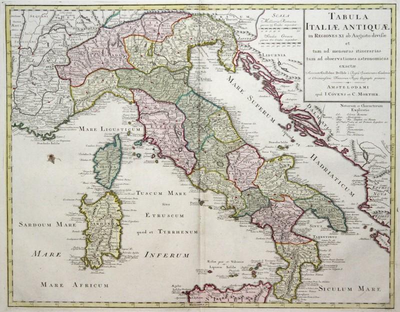 Cartina Italia Immagini.Italia Originale Incisione Cartina Geografica Covens Mortaio 1770 Ebay