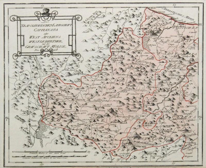 Cartina Del Molise Geografica.Molise Originale Incisione Cartina Geografica Reilly 1791 Ebay