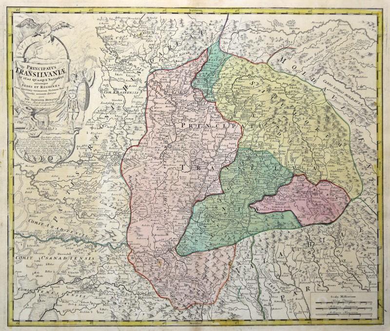 Cartina Geografica Romania Transilvania.Romania Transilvania Originale Incisione Cartina Geografica Homann 1720 Ebay