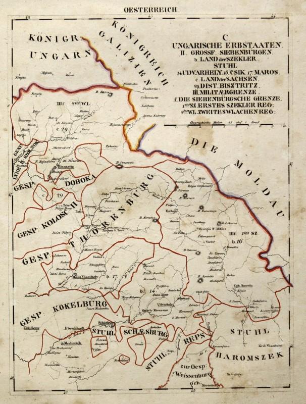 Cartina Romania Transilvania.Romania Transilvania Originale Litografia Cartina Geografica Di Schlieben 1830 7 Ebay