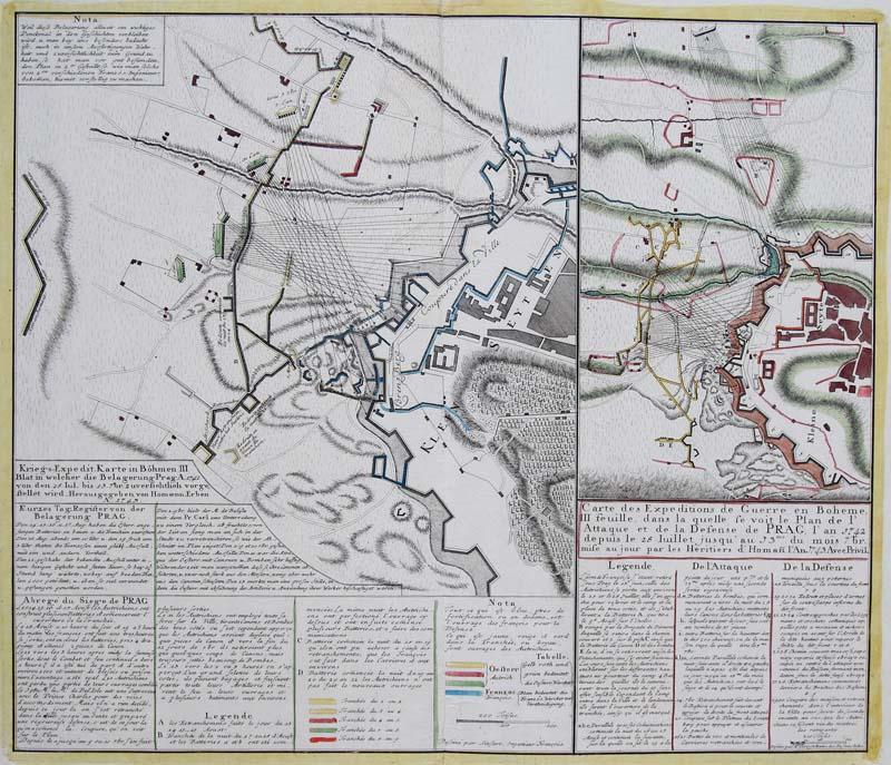 Homann erben orig altkol grabado mapa de pas belagerung praga informacin de vendedor profesional gumiabroncs Choice Image