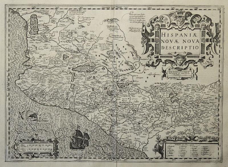 Cartina Geografica America Centrale.Dettagli Su Hondius Originale Incisione Cartina Geografica Messico Mexico America Centrale